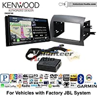 Volunteer Audio Kenwood DNX874S Double Din Radio Install Kit with GPS Navigation Apple CarPlay Android Auto Fits 2004-2010 Toyota Sienna with Amplified System
