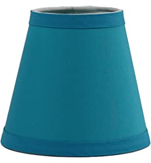 Amazon mainstays lamp shade teal home kitchen urbanest teal cotton chandelier lamp shade 3 inch by 6 inch by 5 aloadofball Image collections