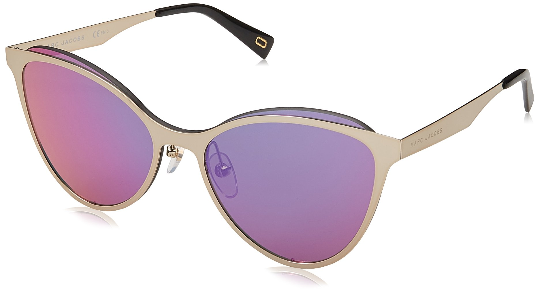 Marc Jacobs Women's Marc 198/S Gold With Multilayer Pink Lens Sunglasses
