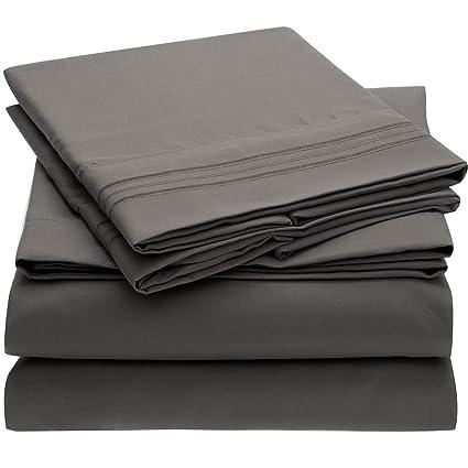 Mellanni Bed Sheet Set   Brushed Microfiber 1800 Bedding   Wrinkle, Fade,  Stain Resistant