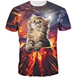 Wiboyjp メンズtシャツ 猫 ネコ 3d ヒップホップ スウェット t shirt 3dtシャツ 半袖tシャツ サマー メンズ 3D 春 夏 猫柄 ファッション ストリート トレンド
