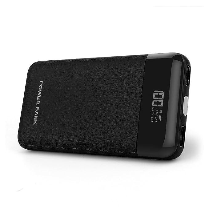DINTO Bateria Externa 10000mAh Power Bank, Cargador Móvil Portátil Compacto con la exhibición de Digitaces LED elegante para iPhone, iPad, Samsung, ...