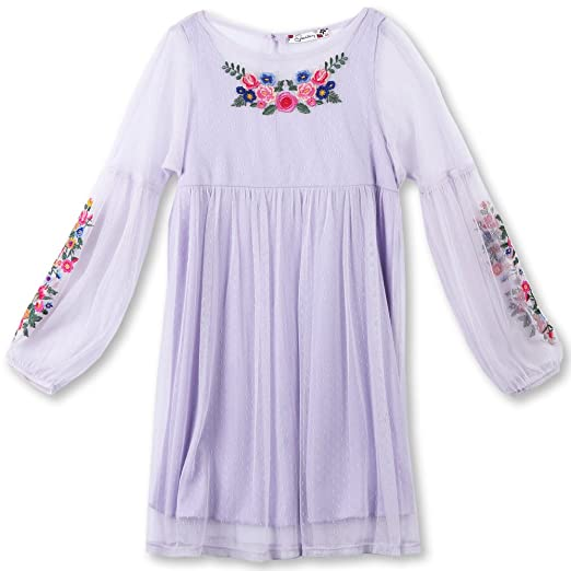 2dc803a6f62e Amazon.com  Speechless Girls  Big Babydoll Dress with Embroidery ...