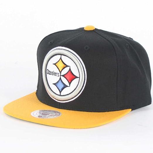 Pittsburgh Steelers Big Logo Black Yellow Adjustable Snapback Hat   Cap 064dad9a835