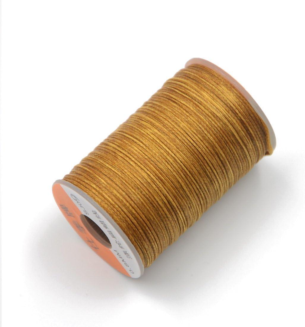 Hilo encerado de Angelakerry, de poliéster, para coser cuero, ropa, pulseras, joyas, 0,8 mm x 60 m, color SJ009, 1 pieza: Amazon.es: Hogar