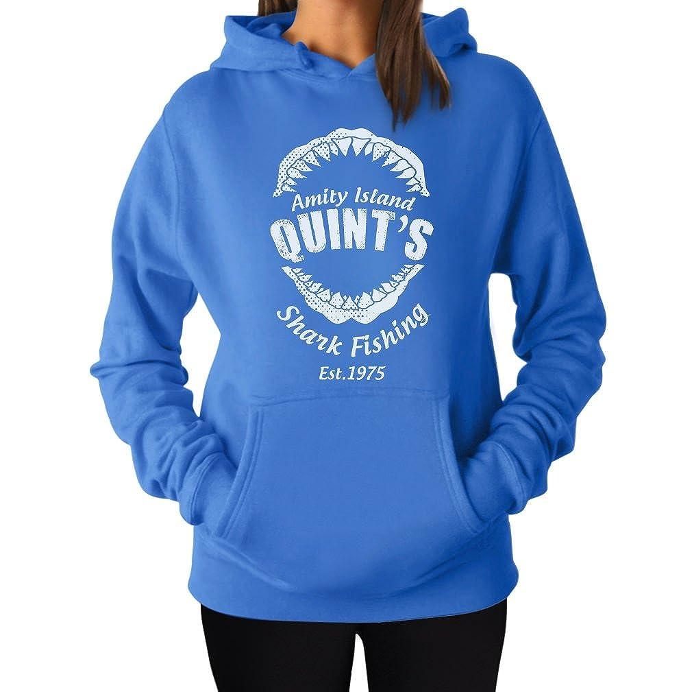 TeeStars - Quint's Shark Fishing - Funny Gift Idea Women Hoodie GM000tgK