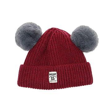 WOSOSYEYO Sombrero de Punto de Invierno para bebés, niñas, niños ...