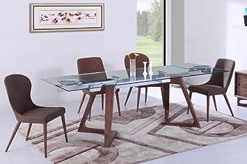 table de repas design en verre extensible belaggio