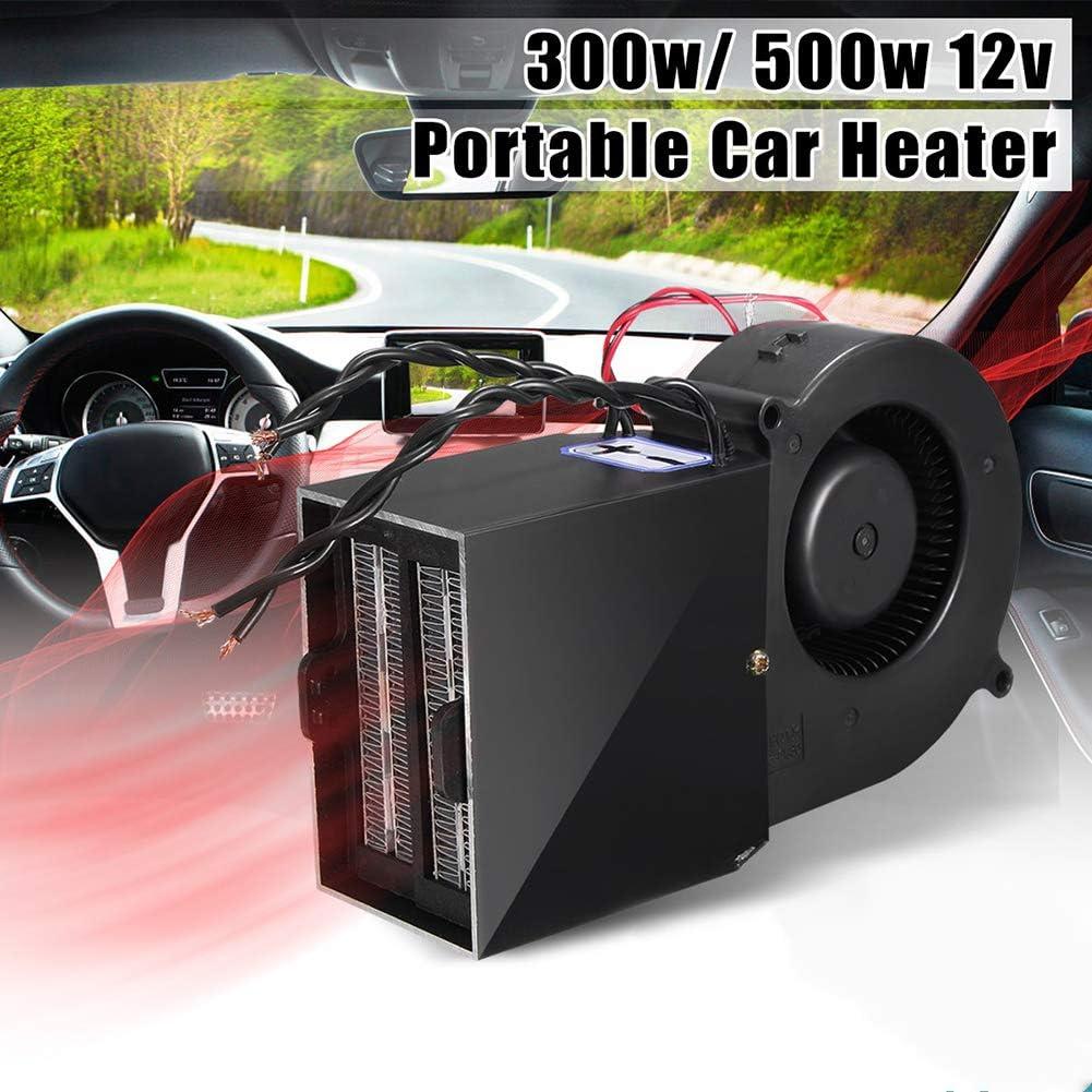 Lovejoy Store Auto Heizlüfter Kfz Zusatzheizung 12 V 300 Watt 500 Watt Einstellbare Auto Heizgebläse Keramik Heizung Defroster Demister Sport Freizeit