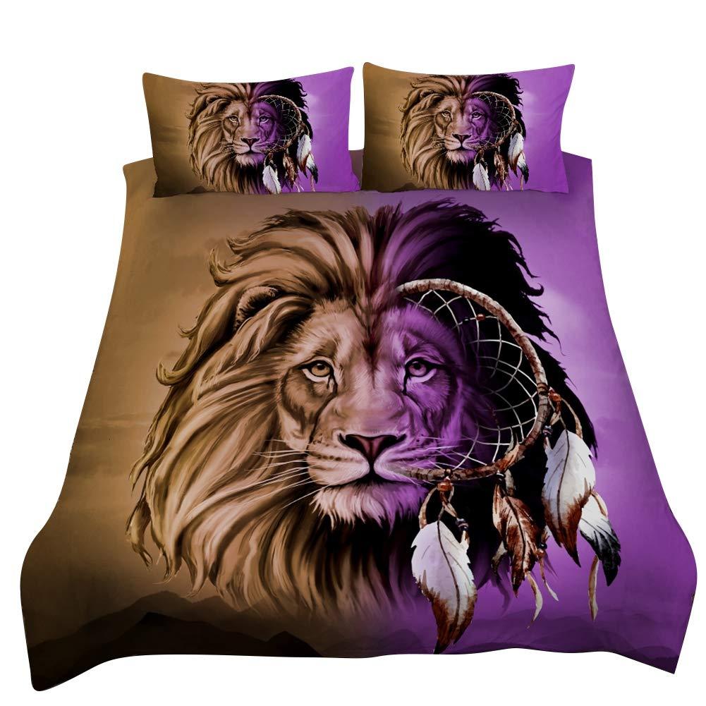 Yosooo 3pcs / Set 3D Dreamcatcher Lion-Patterned Bedding Set Duvet Cover Set Pillow Case(Full) by Yosooo