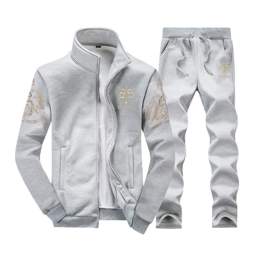 Men Tracksuit 2 Piece Outfits Set Sportwear Trainingspak Jacket Coat /& Pant Tracksuits Sets