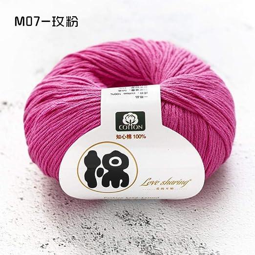 MDWBR 1000g (20 Bolas) Color sólido Hilo Suave para bebés 100 ...