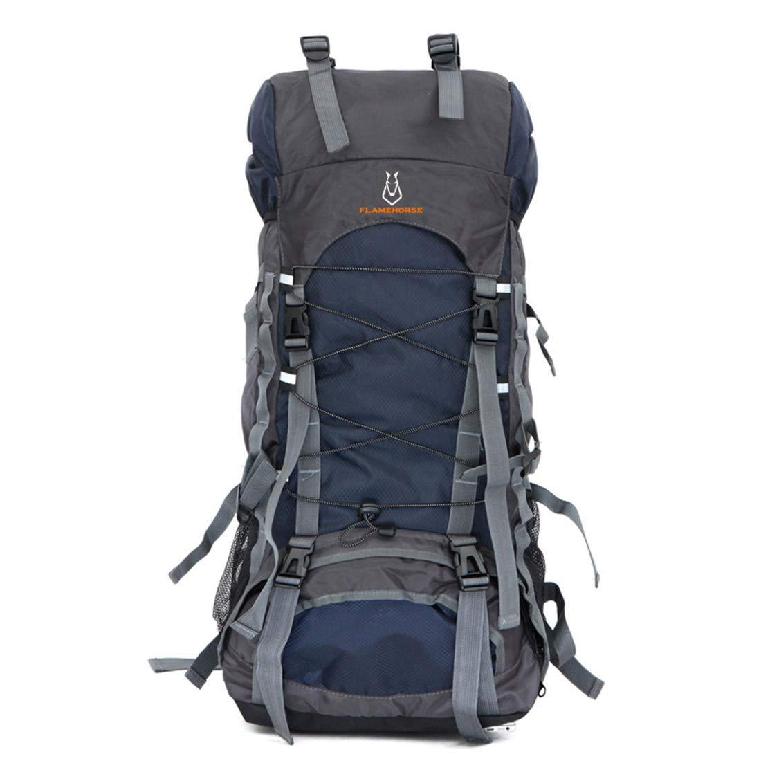 Igspfbjn Rucksäcke Outdoor High Capacity Multifunktions-wasserdichter und tragbarer Rucksack für für für das Wandern von Campingreisen (Farbe   Dark Blau) B07N2QV2CZ Schultertaschen 24e13a
