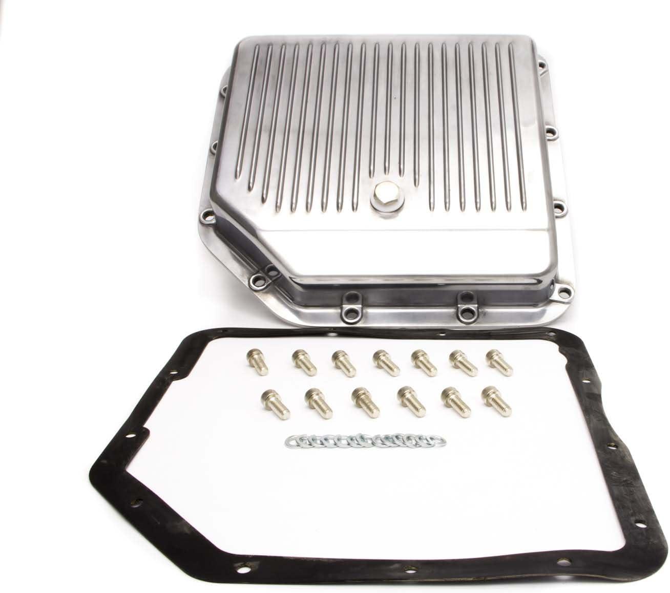 Racing Power Company R8491 Polished Aluminum Transmission Pan