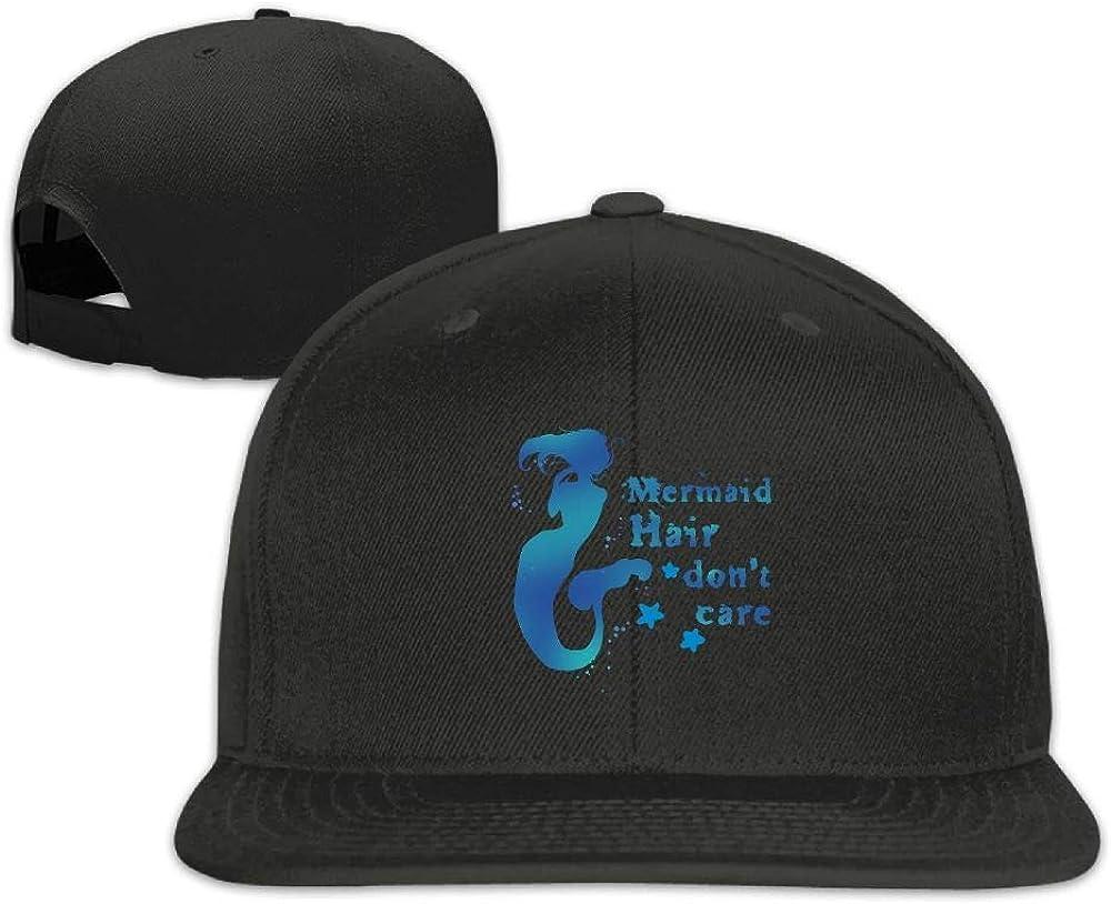 Mermaid Hair Don't Care Washed Unisex Flat Bill Visor Baseball Hat