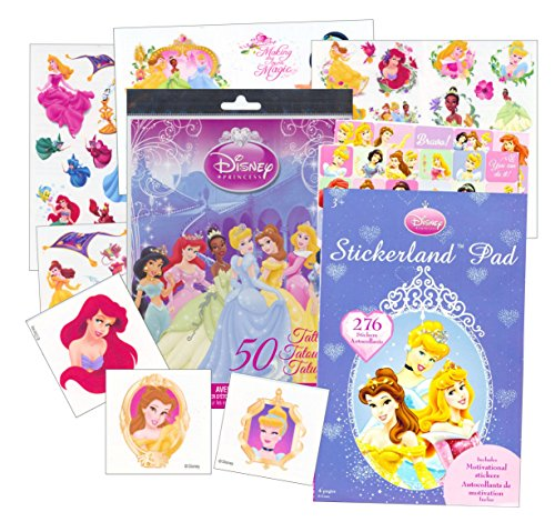 Disney Princess Stickers and Tattoos Party Favor Pack