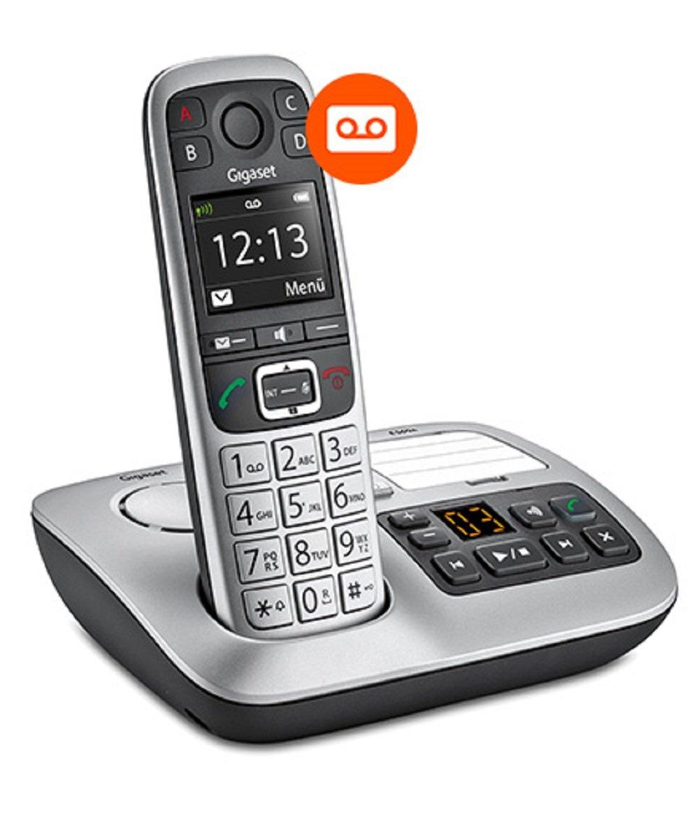 Tel/éfono Gigaset E560A Plus Analog//DECT Telephone Negro Analog//DECT Telephone, Terminal inal/ámbrico, Altavoz, Negro, Plata Plata