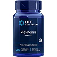 Life Extension Melatonin 500 Mcg, 200 Vegetarian Capsules