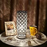 Best Bedroom Lamps - Tomshine Crystal Silver Beside Table Lamp Desk Light Review