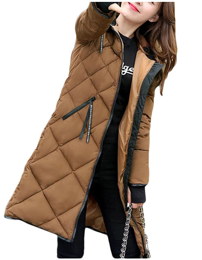 Coffee sull Women Winter Down Coats Long Hoodies Puffer Down Jacket Overcoat
