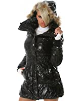 Classy wet look short coat fur lined in different colours (WS-801)