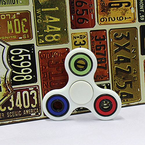 BOBOO Fidget Spinner Stress Reducer ,Bearing Toy for ADHD EDC Hand Killing Time (Blue-Green-Red)