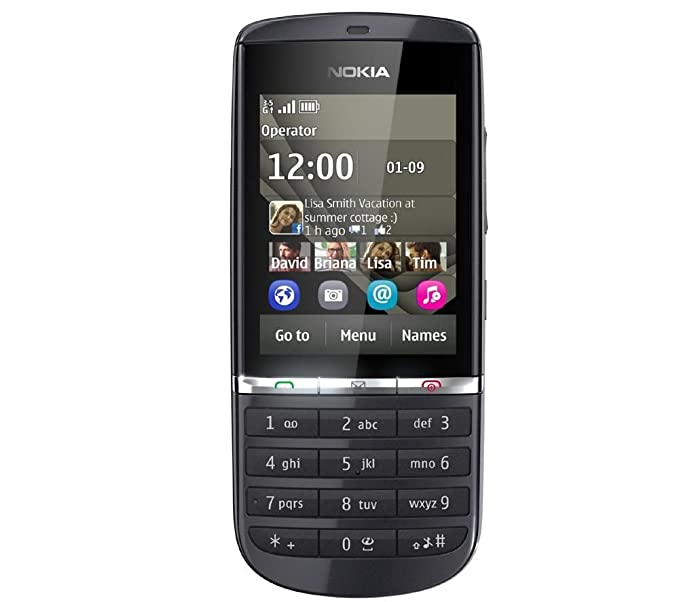 Nokia Asha 300 Series 40 OS Mobile Phone with 1 GHz