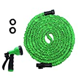 HooSeen Garden Hose, 100ft Expandable Water Hose, Lightweight Expanding Hose with Hose Nozzle for Car Washing, Garden Watering, Leak Resistant Connector, Double Latex Inner Tube