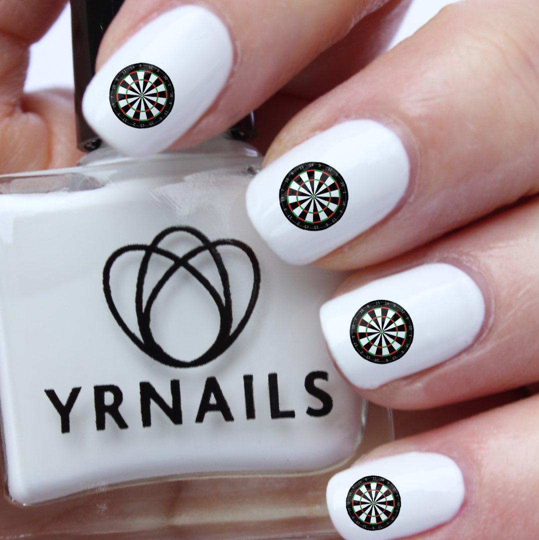 Dartboard Nail Decals by YRNails