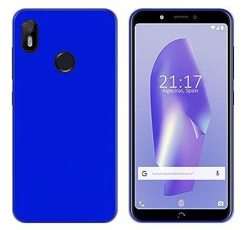 Tumundosmartphone Funda Gel TPU para Bq Aquaris C Color Azul