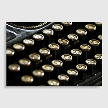 """Big Box Art """"Vintage máquina de Escribir tamaño: 2"""" Póster Impresión,"""