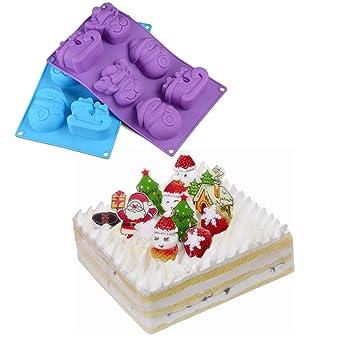 Starter Weihnachts Reihen Form Silikon Kuchen Form 3d Fur Diy Gelee