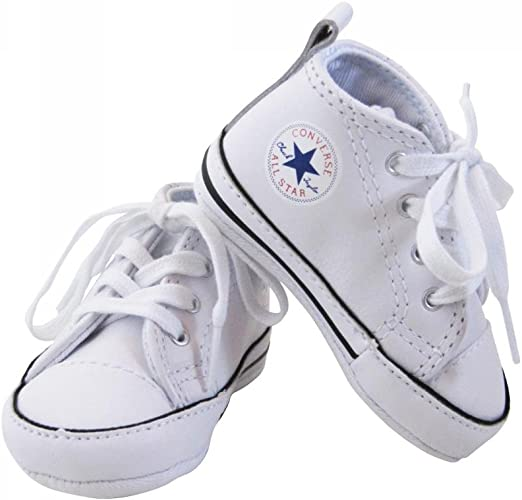 Converse-Baskets All Star Cuir Blanc bébé Fille: Amazon.fr ...