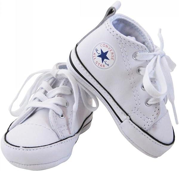 Converse Baskets All Star Cuir Blanc bébé Fille:
