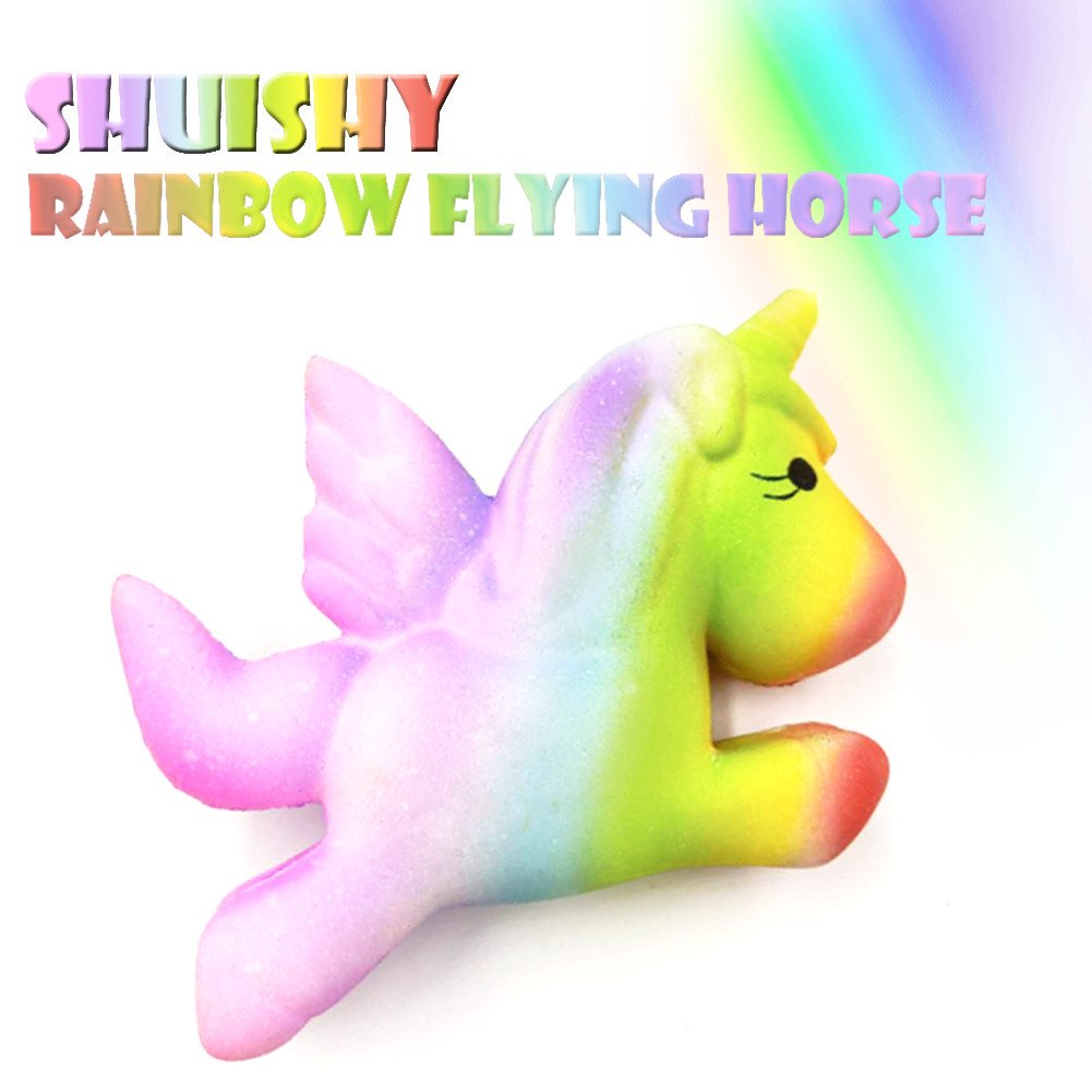 Squishes Toys , Elevin(TM) Kawaii Squeeze Squishy Slow Rising Jumbo Giant Scented Cartoon Cute Star Unicorn Stress Reliever Toy (D)