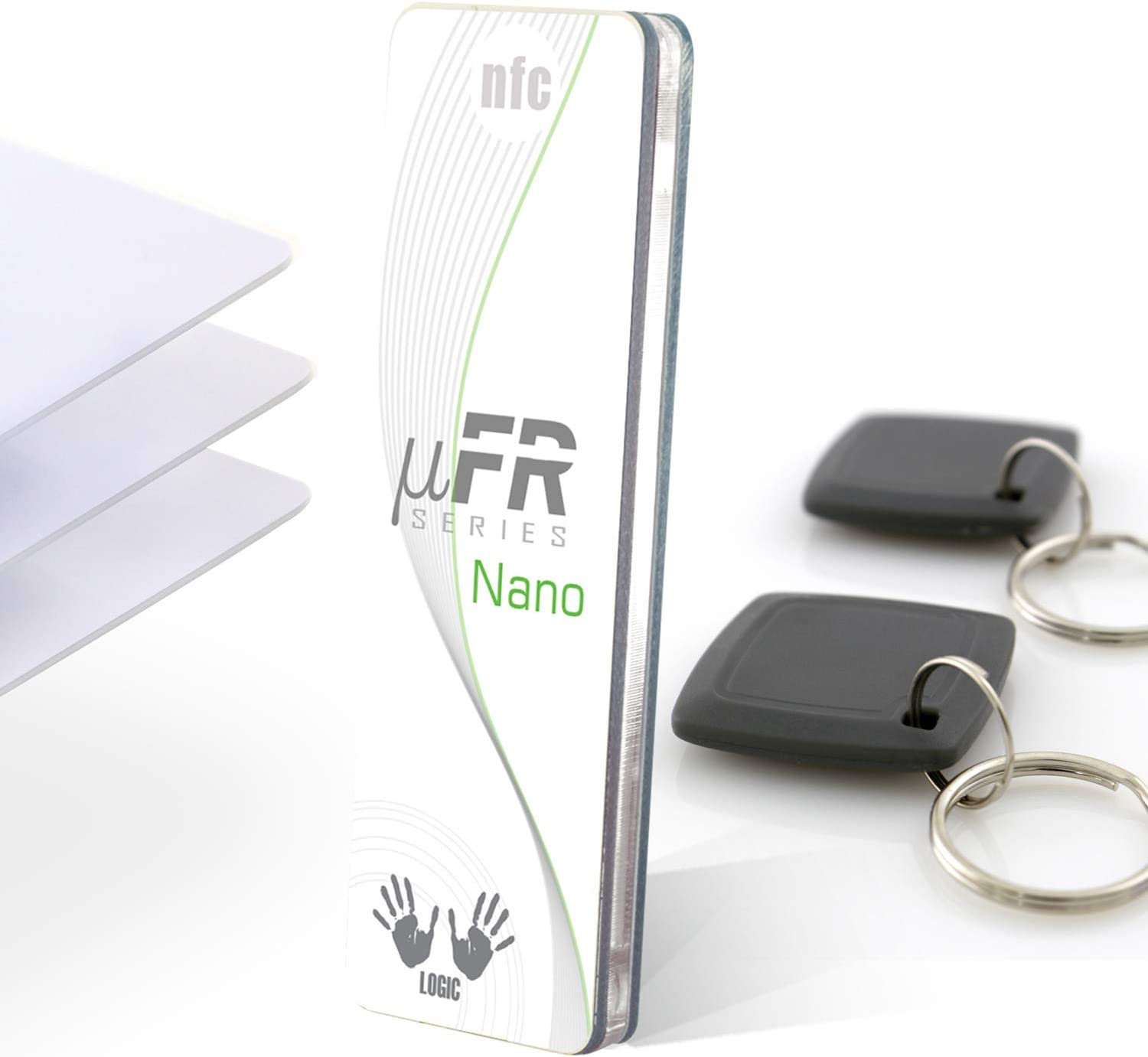 UART D-Logic uFR Nano RFID NFC Reader Writer 13.56MHz Programmer with Serial Interface Software SDK Examples 3 Cards and 2 Key fobs NFC Reader