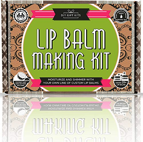 - DIY Lip Balm Kit, (73-Piece Set) Homemade, Natural and Organic | Includes Tubes, Beeswax Pouch, Essential Oils, Labels, Stir Sticks & More