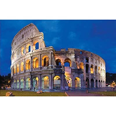 FeiFei66 1000 Piece Adult Children Jigsaws Puzzles - Landscape Pattern Puzzle - Colosseum Roma Italy Landscape Scenery Art Wall Hanging Puzzle Toy: Toys & Games