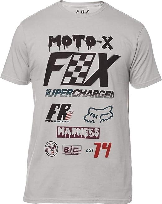 Fox Racing - Camiseta - para Hombre Gris Gris Acero Small