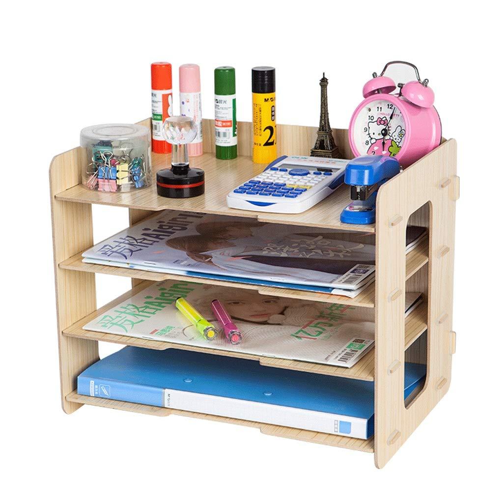 Dateiracks Aktenordner Einfaches Bücherregal Mehrlagiger Ordner Aufbewahrungsbox Schubladenbox (Farbe   B) B07PH57S8W | Sale Düsseldorf