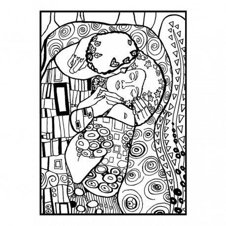 Disegno Pennarelli Velluto Klimt Il Bacio 47 Cm Effetto