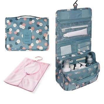 Amazon.com: Florica 2 bolsas de aseo para colgar cosméticos ...