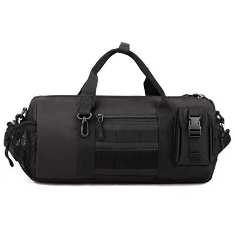 X-Freedom Military Shoulder Bag Molle Tactical Travel Tote Duffle Bag  Handbag Gear Cargo Round Weekend Bag Carry On Crossbody Overnight Bag  Portable Luggage ... ee04ffc486b2d