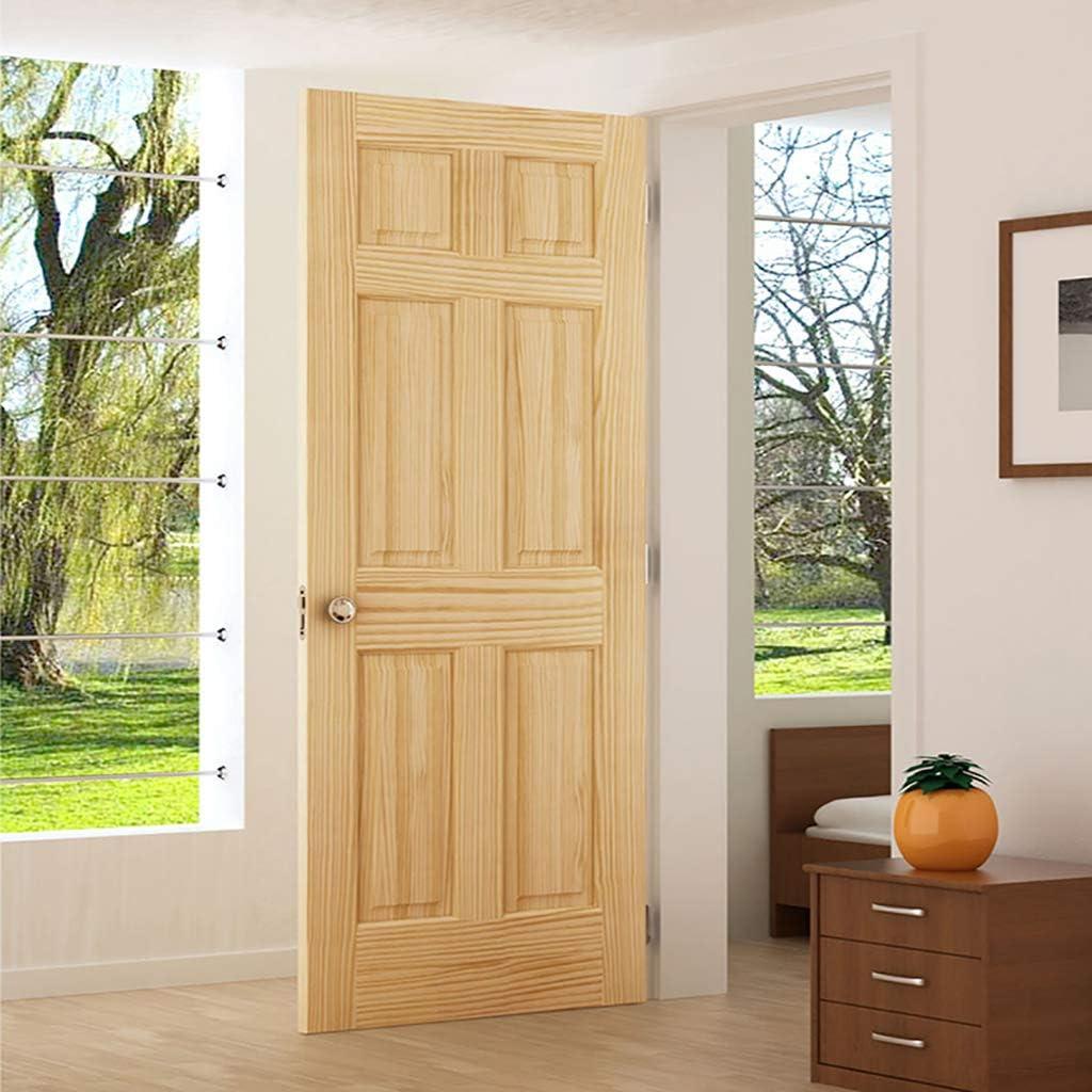 Amazon Com 6 Panel Door Interior Slab Solid Pine 24x80 Home Improvement
