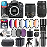 Holiday Saving Bundle for D7100 DSLR Camera + Tamron 70-300mm Di LD Lens + AF-P 18-55mm + 500mm Telephoto Lens + 6PC Graduated Color Filter Set + 2yr Extended Warranty - International Version