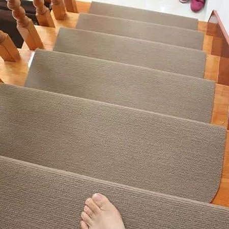 Antideslizante Almohadillas De Escalera 15 Piezas, Color Sólido Alfombras para Escaleras Interior Escalera Runner para Proteger A Los Niños, Ancianos, Perros-Beige 75x24cm(30x9inch): Amazon.es: Hogar