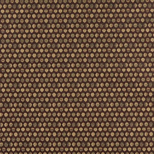 Cocoa Beige and Brown Contemporary Small Dot Pattern Damask Upholstery Fabric by the yard