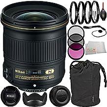Nikon AF-S NIKKOR 24mm f/1.8G ED Lens Bundle with Manufacturer Accessories & Accessory Kit (14 Items) - International Version (No Warranty)