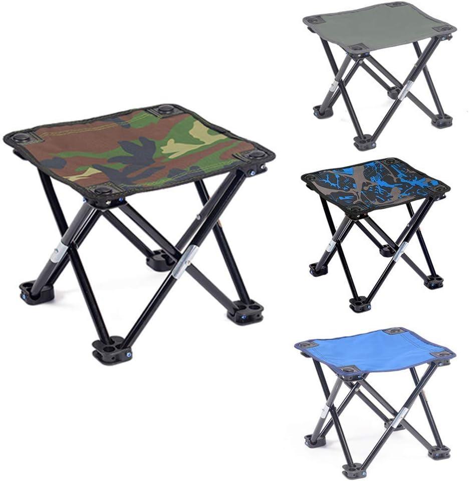 Colorful-Blue vap26 Mini Picnic Campin Ultralight Pesca Banco Exterior Port/átil Silla Plegable Free Size