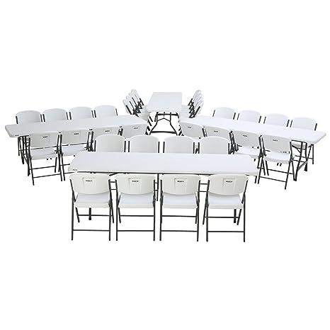 Lifetime - Juego de 4 mesas Nido de 8 pies y 32 sillas ...